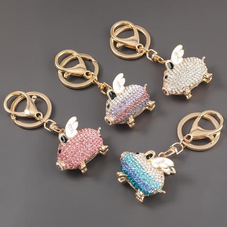 porte-clés piggy ailes de diamant en alliage NHJE303113's discount tags