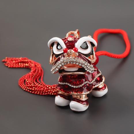 Porte-clés lion mignon en alliage de diamant de style chinois NHJE303114's discount tags