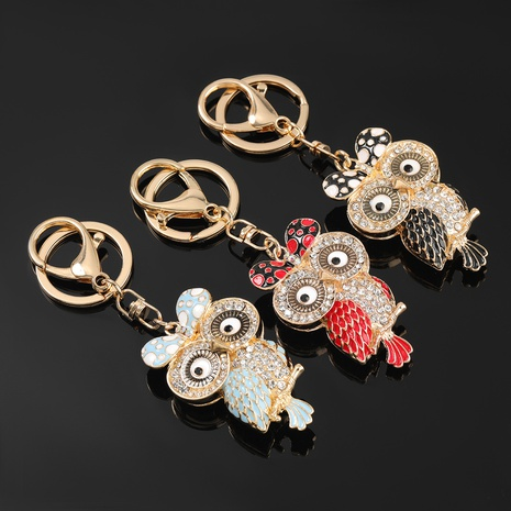 porte-clés hibou de dessin animé de diamant NHJE303115's discount tags