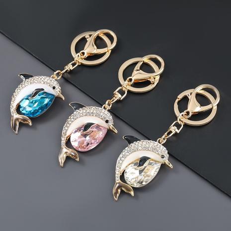 porte-clés dauphin mignon en alliage de diamant NHJE303118's discount tags