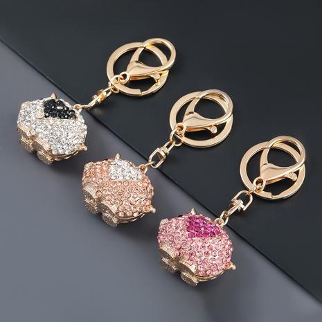porte-clés cochon en alliage serti de diamants NHJE303119's discount tags