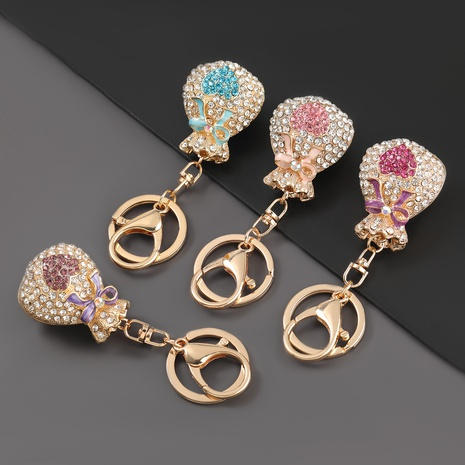 porte-clés de sac de bénédiction incrusté de diamants en alliage NHJE303120's discount tags