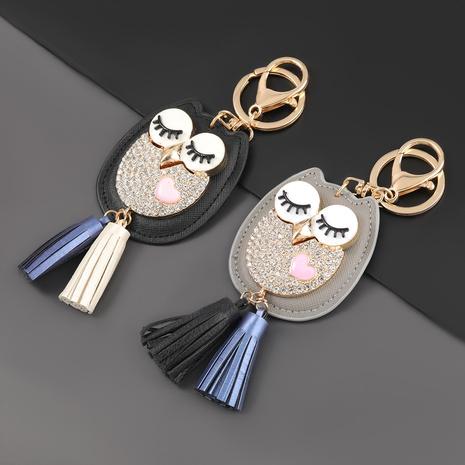 porte-clés hibou en cuir artificiel serti de diamants NHJE303123's discount tags