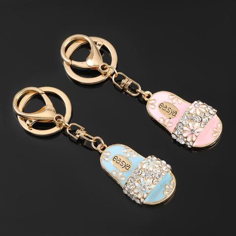 porte-clés de dessin animé de pantoufles en alliage de diamants NHJE303126's discount tags