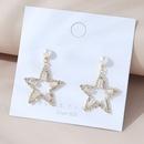 Boucles d39oreilles cinq toiles en perles de cuivre coren NHPS303140
