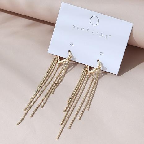 Korean creative long wild fashion exaggerated long tassel earrings NHPS303158's discount tags
