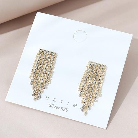 Korean fashion tassel S925 silver needle earrings NHPS303174's discount tags