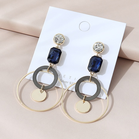 Korean gold plated fashion creative exaggerated hollow earrings NHPS303176's discount tags