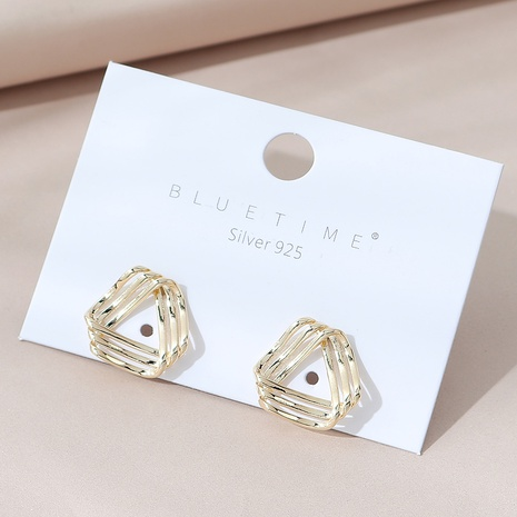 simple gold plated fashion earrings NHPS303180's discount tags