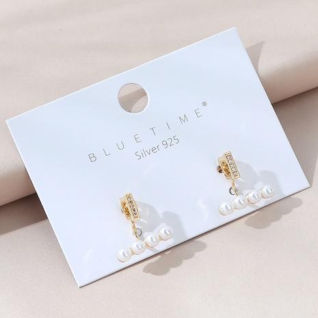 Korean fashion wild pearl S925 silver needle earrings NHPS303182's discount tags