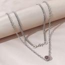 creative trendy wild double necklace NHPS303197