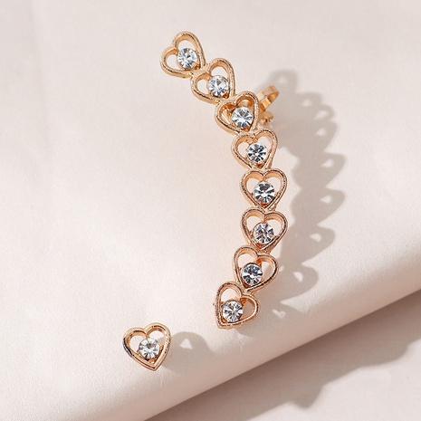 Fashion creative Asymmetric Heart Earrings NHPS303203's discount tags