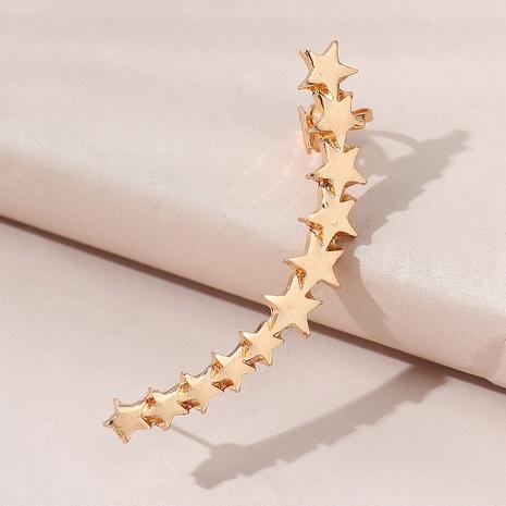 Korean creative fashion unilateral five-star earrings NHPS303204's discount tags