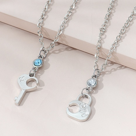 Korean creative wild popular couple necklace NHPS303207's discount tags