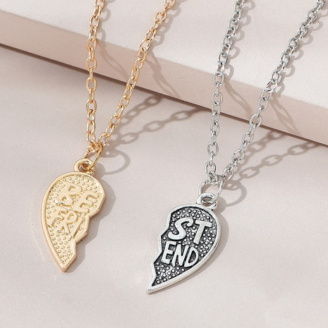 Korean creative wild simple trend couple necklace NHPS303208's discount tags