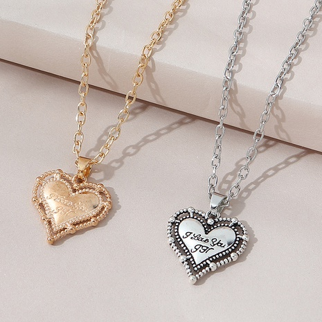 creative trend wild fashion love couple necklace NHPS303209's discount tags