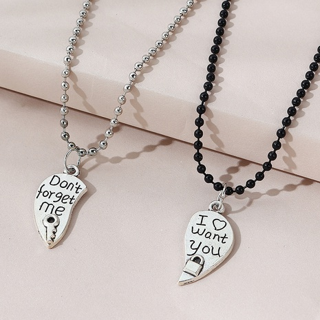 creative wild trendy line couple necklace NHPS303210's discount tags