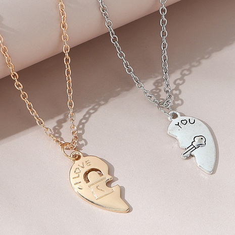 Korean creative trend line wild couple necklace NHPS303212's discount tags