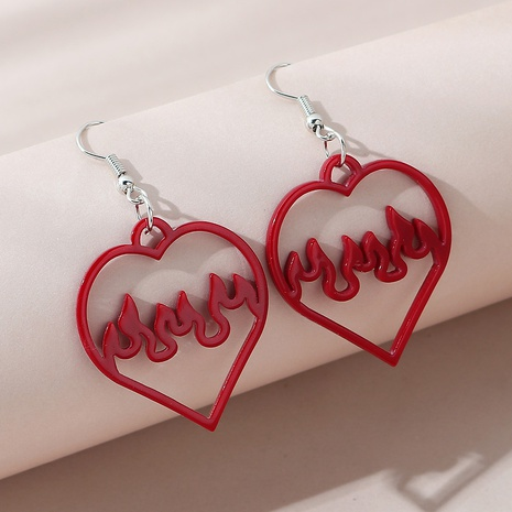 Korean fashion creative wild popular love earrings NHPS303223's discount tags