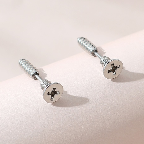 creative fashion simple screw earrings NHPS303225's discount tags