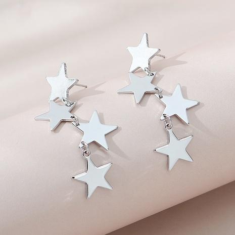 Korean creative tassel star earrings NHPS303226's discount tags