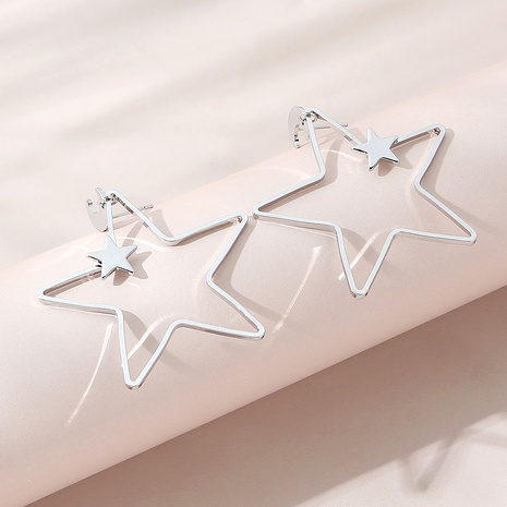 Korean fashion hollow five-pointed star earrings NHPS303227's discount tags