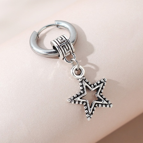 creative fashion small five-star unilateral earrings NHPS303229's discount tags