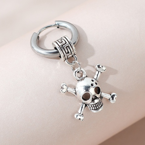 creative exaggerated fashion unilateral skull earrings NHPS303230's discount tags