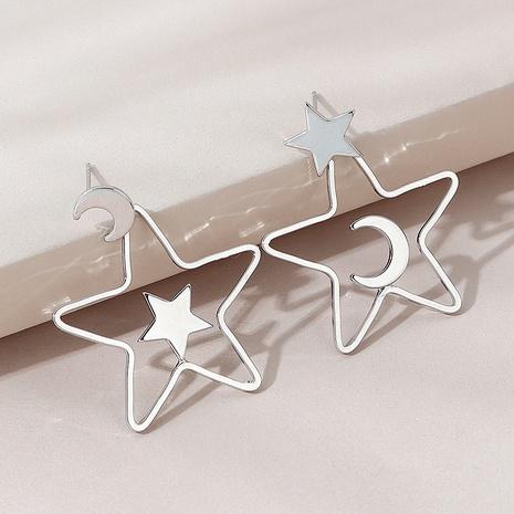 Korean wild fashion planet moon earrings NHPS303233's discount tags