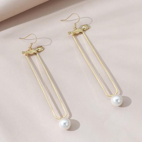 Korean style long wild fashion retro creative pearl earrings NHPS303245's discount tags