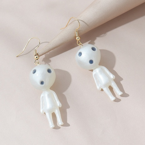 fashion creative exaggerated little alien earrings NHPS303247's discount tags