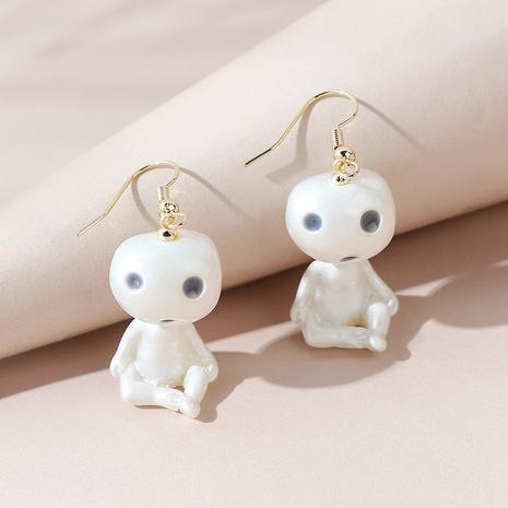 Korean creative line wild little alien earrings NHPS303248's discount tags