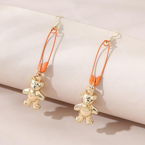 Korean simple fashion play bear earrings NHPS303252's discount tags