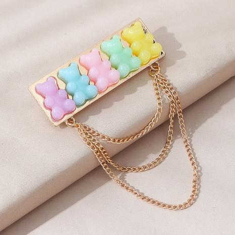 Korean sweet wild cute resin bear brooch NHPS303265's discount tags