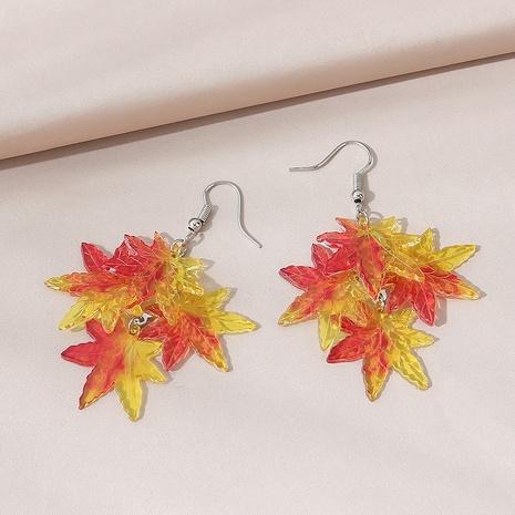 Korean simple fashion maple leaf earrings NHPS303267's discount tags