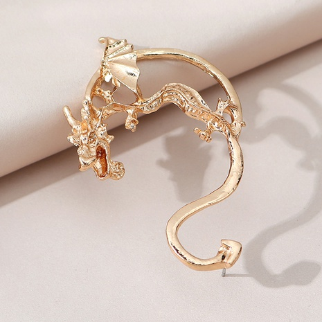 creative wild exaggerated fire-breathing dragon unilateral earrings NHPS303272's discount tags