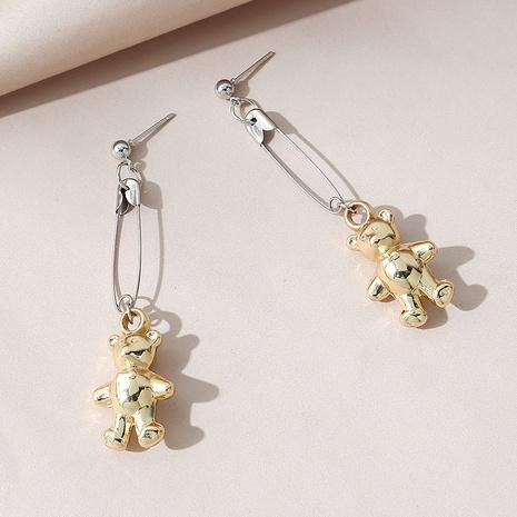 Korean version of creative small fresh wild sweet naughty bear earrings NHPS303275's discount tags