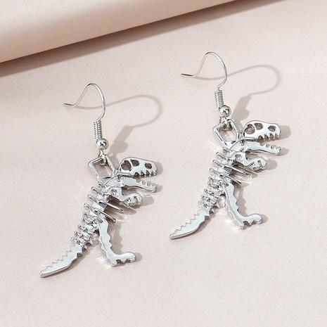 Korean popular wild exaggerated skeleton dinosaur earrings NHPS303276's discount tags