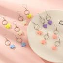 ensemble de 6 paires de boucles d39oreilles coeur papillon toile pour enfants NHNU303300