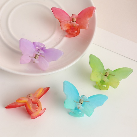 Korea new cute candy color butterfly clip  NHAU303304's discount tags