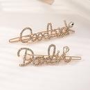nouvelle pingle  cheveux en alliage de strass lettre de mode NHAU303309