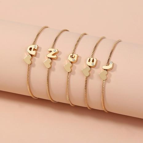 einfaches goldenes 26 englisches Alphabetarmband NHAN303331's discount tags