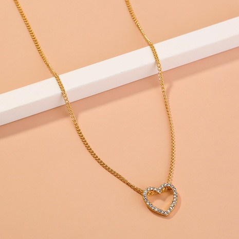 simple diamond heart-shaped pendant necklace  NHAN303343's discount tags