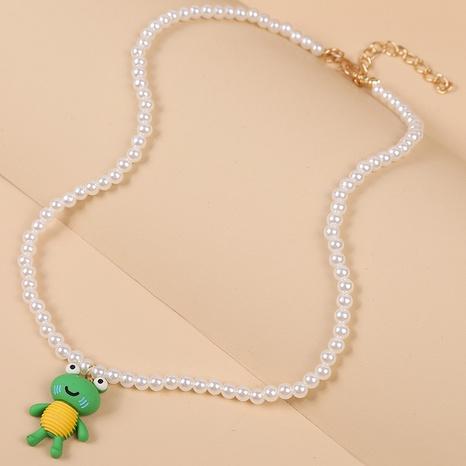 süße Frosch Anhänger Perlenkette NHLA303377's discount tags