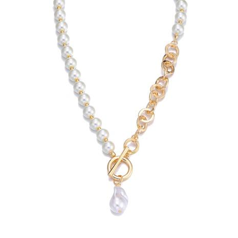 einfache Perlenstickerei Anhänger Halskette NHBD303399's discount tags