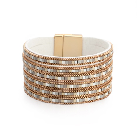 Bohemian wide brimmed magnetic buckle bracelet NHBD303401's discount tags