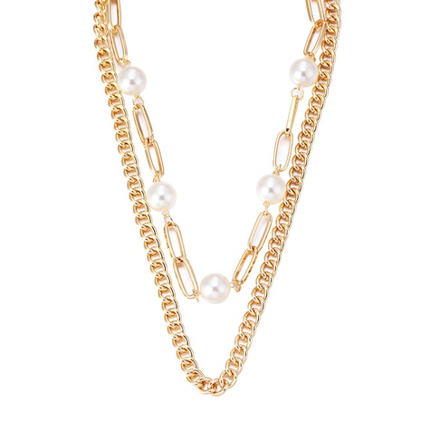 Mode mehrschichtige Perlenkette NHBD303404's discount tags