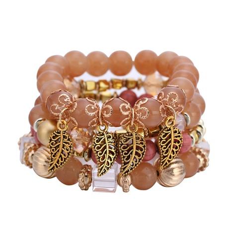 Bohemian beaded leaf bracelet  NHBD303410's discount tags