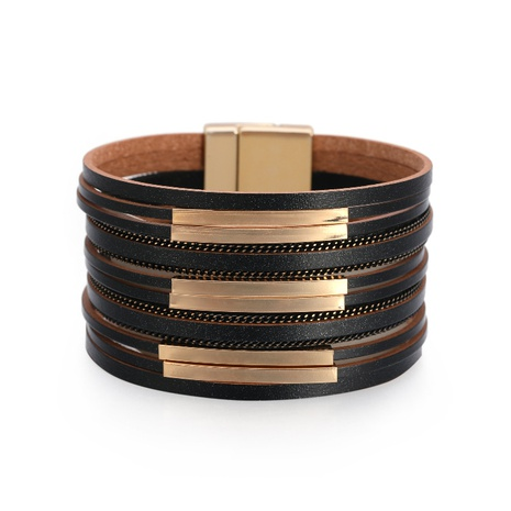 Bohemian copper pipe wide-brimmed bracelet NHBD303416's discount tags