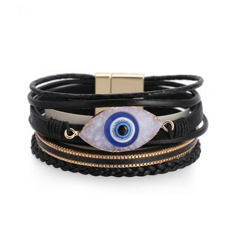 Bohemian multi-layer Devil's eye leather bracelet  NHBD303418's discount tags